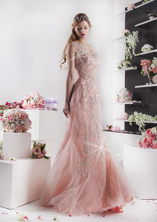 rybičkové sexy růžové šaty