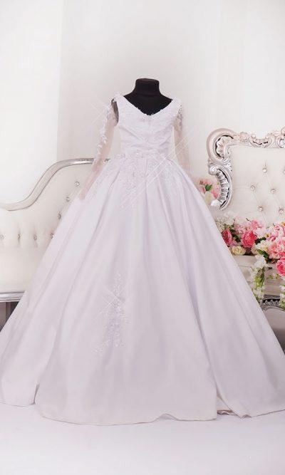Dětské šaty na svatbu s rukávy