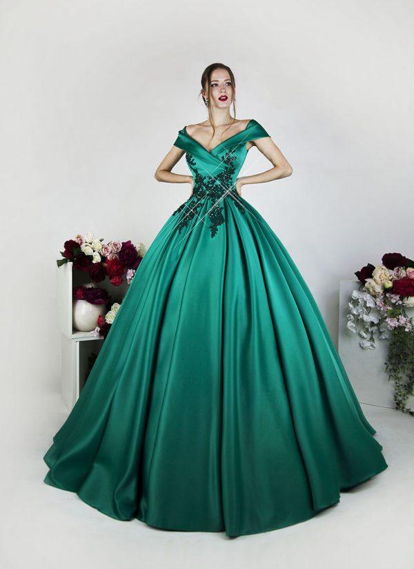 Luxusní zelené šaty na maturitní ples