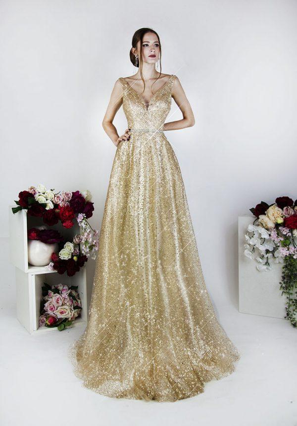Třpytivé společenské šaty na ples nebo svatbu