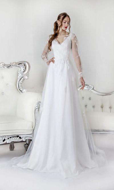 Dvoudílné boho svatební šaty Praha