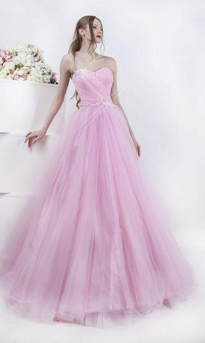Plesové šaty s asymetrickou krajkou