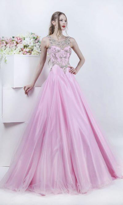 Bohatě vyšívané maturitní šaty