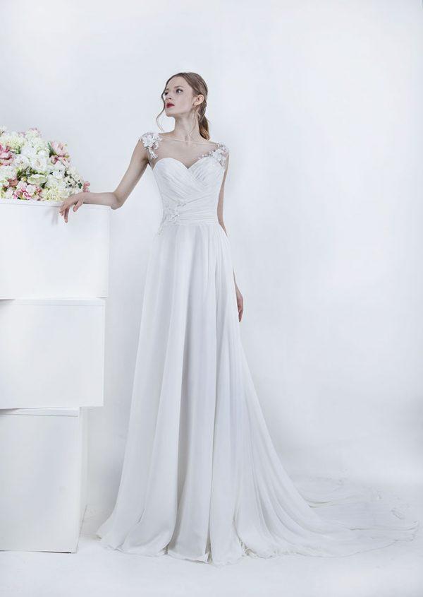 Svatební šaty z lehkého šifónu