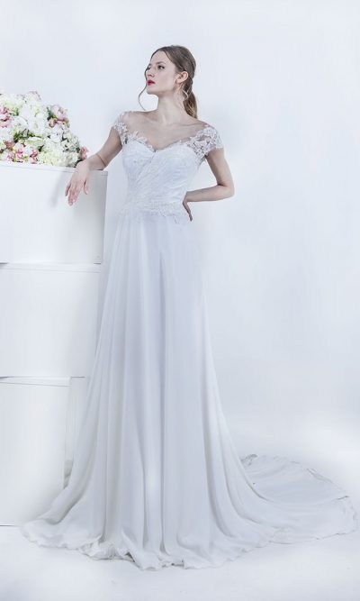 Svatební šaty z krepového šifónu