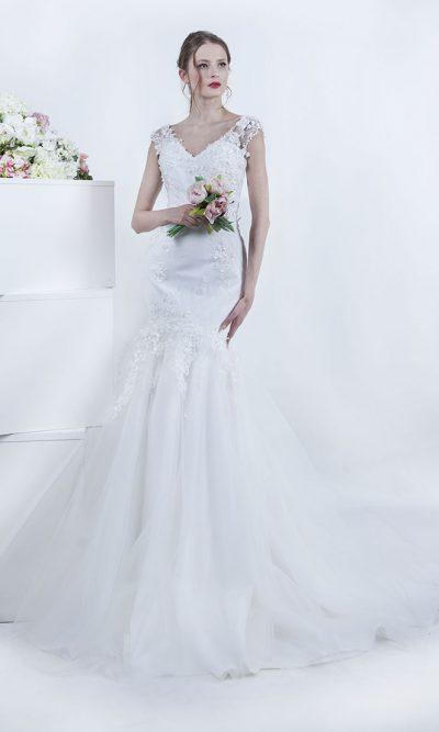 Svatební šaty mořská panna s krajkou