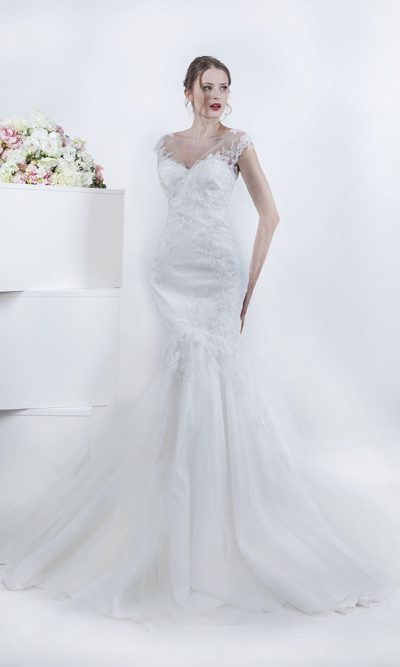 Svatební šaty mořská panna s tylovou sukní