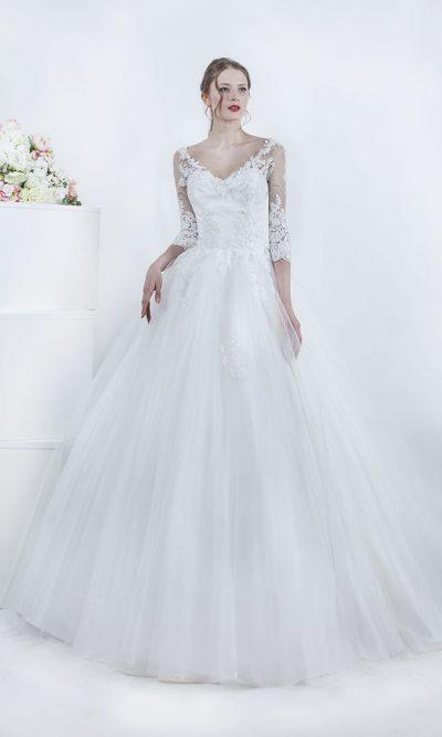 Svatební šaty s krajkovými rukávy Praha