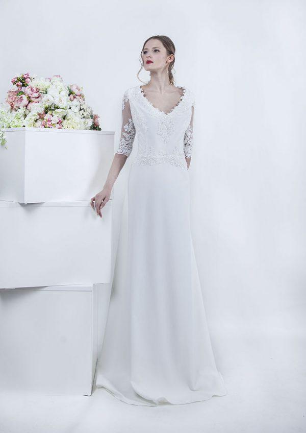Svatební šaty velké velikosti 50