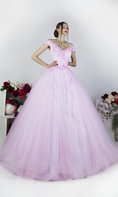 Plesové šaty růžové pro plnoštíhlé