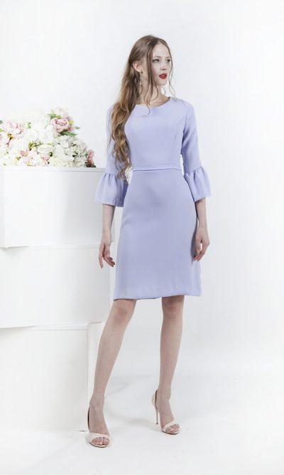 Krátké společenské univerzální lila šaty