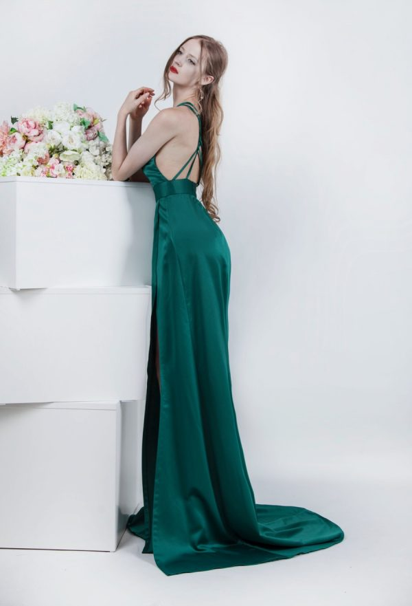 Krásná záda elegantních společenských šatů