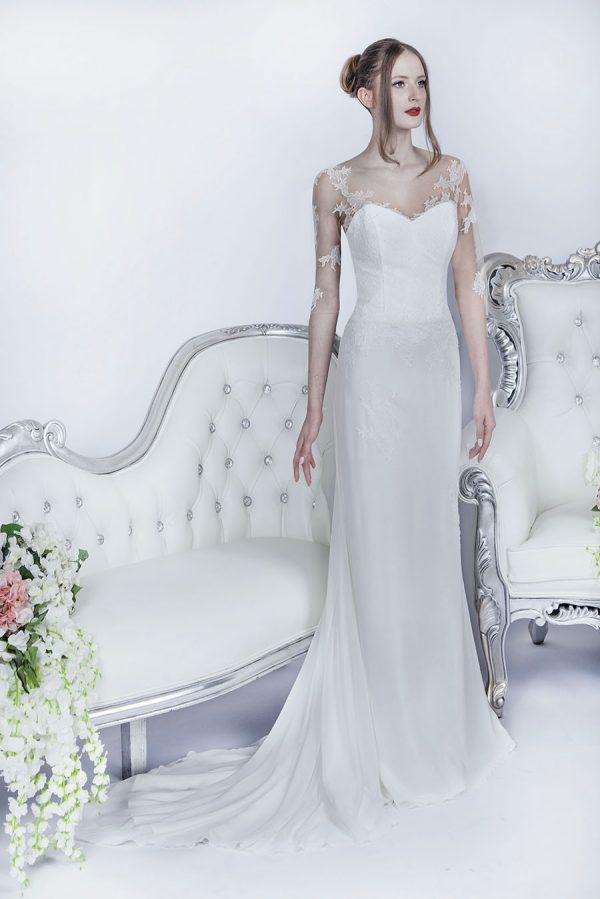 Krásné svatební šaty Praha jednoduchého stylu