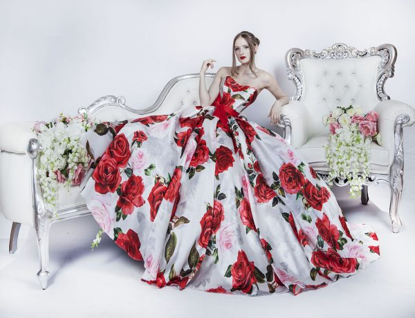 Plesové šaty na maturitní ples s růžemi