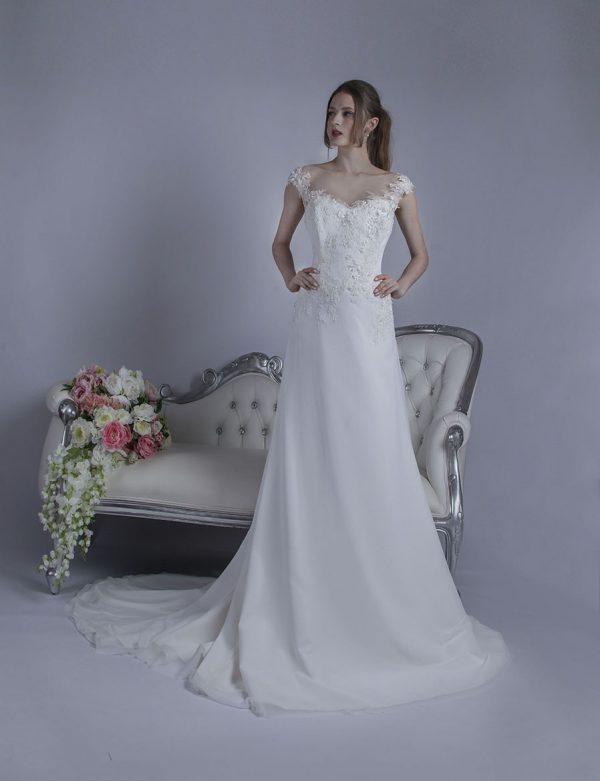 Svatební šaty s tulipánovou sukní ze šifónu