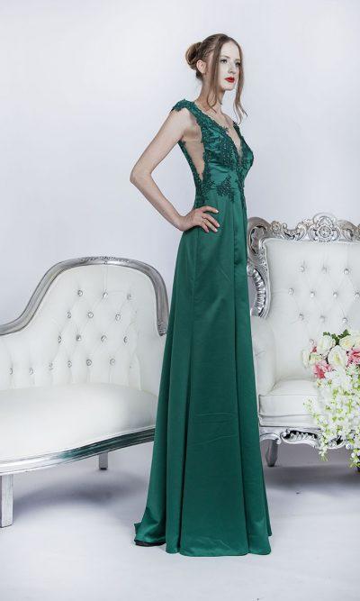 Zelené večerní šaty na půjčení v Praze