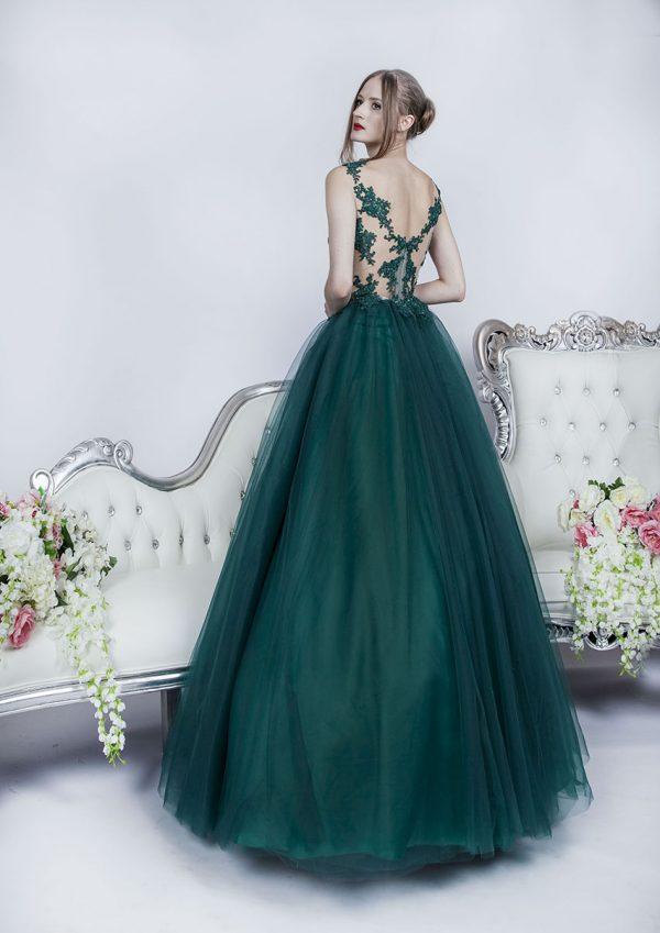Elegantní a šik smaragdové společenské šaty