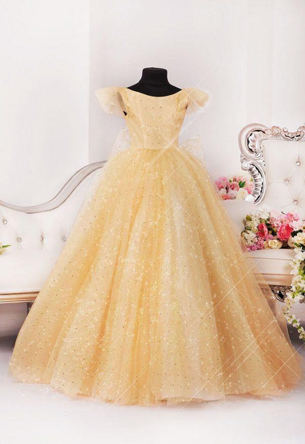 Šaty pro družičku Praha zlaté barvy