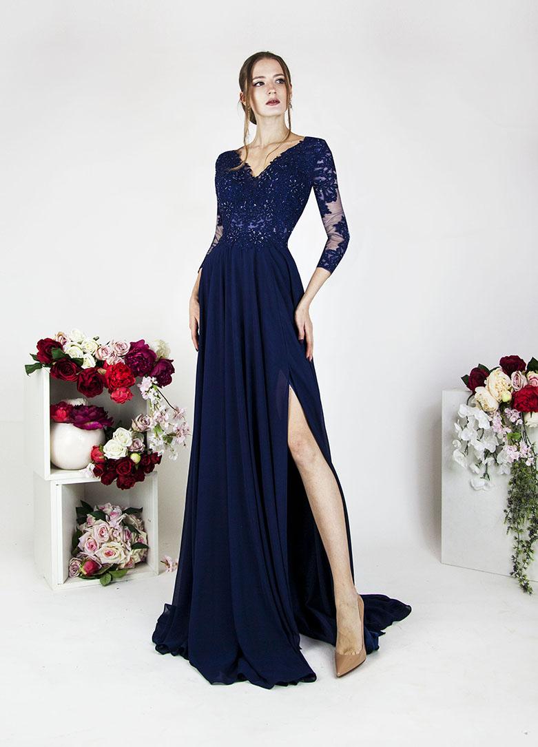 Luxusní společenské šaty na ples velká velikost