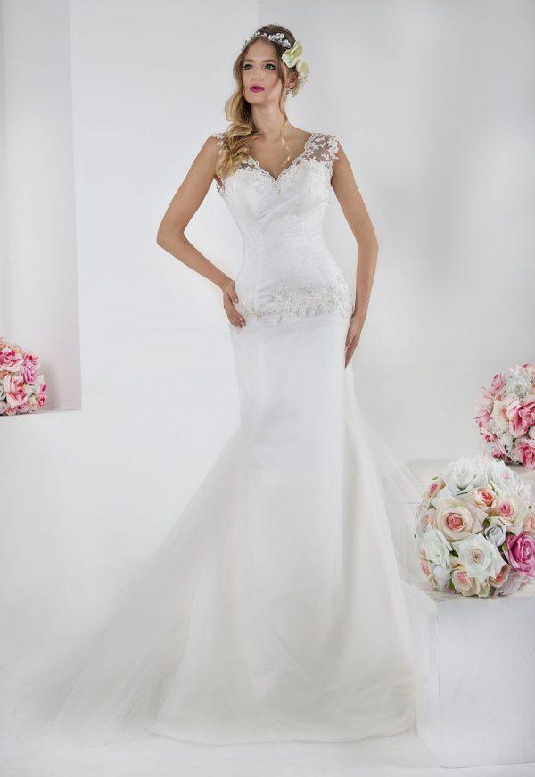 Svatební šaty stylu mořská panna z výprodeje