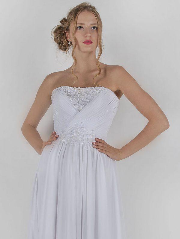 Svatební šaty s drapovanou sukní