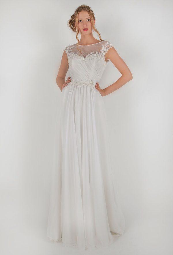 Romantické svatby šaty s krátkými rukávy