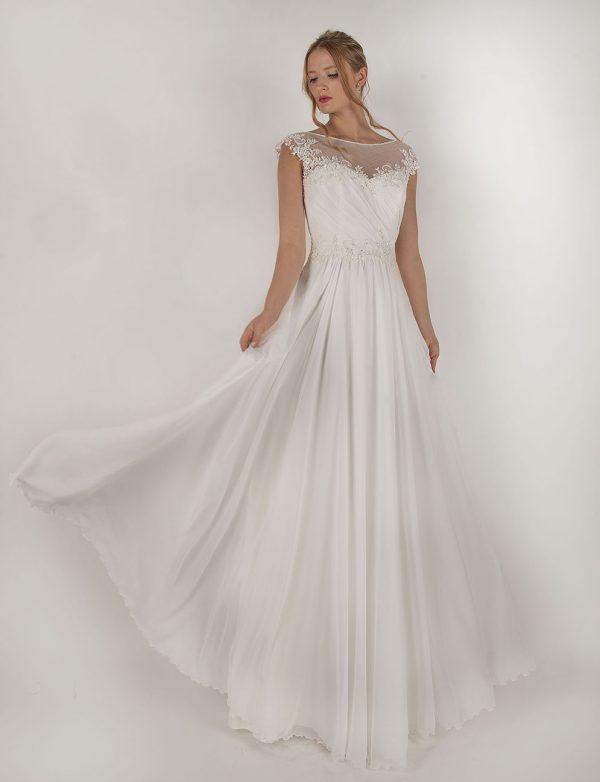 Setanové svatební šaty levně