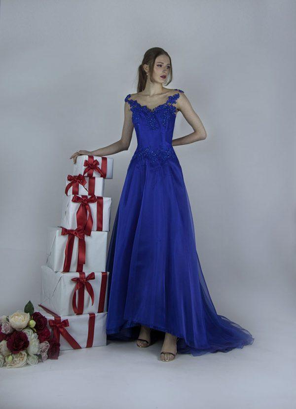 Společenské šaty asymetrické délky