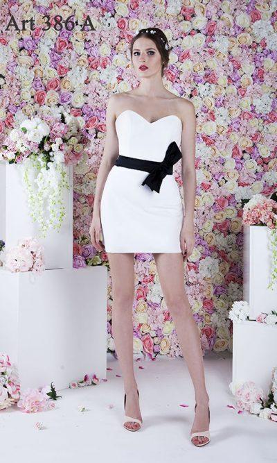 Elegantní a sexy krátké bílé společenské šaty