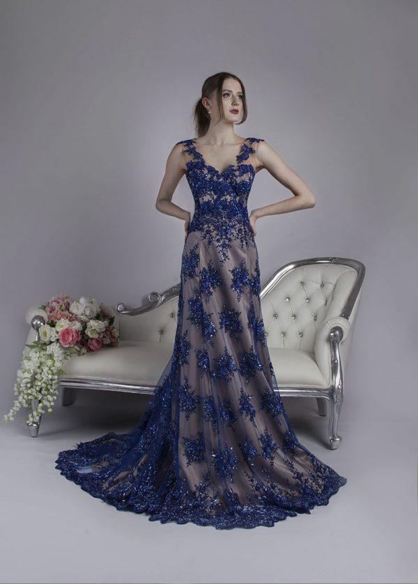 Dvoubarevné společnské šaty mordé barvy na svatbu