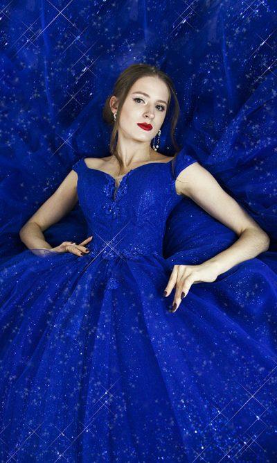 Luxusní třpytivé plesové šaty půjčovna