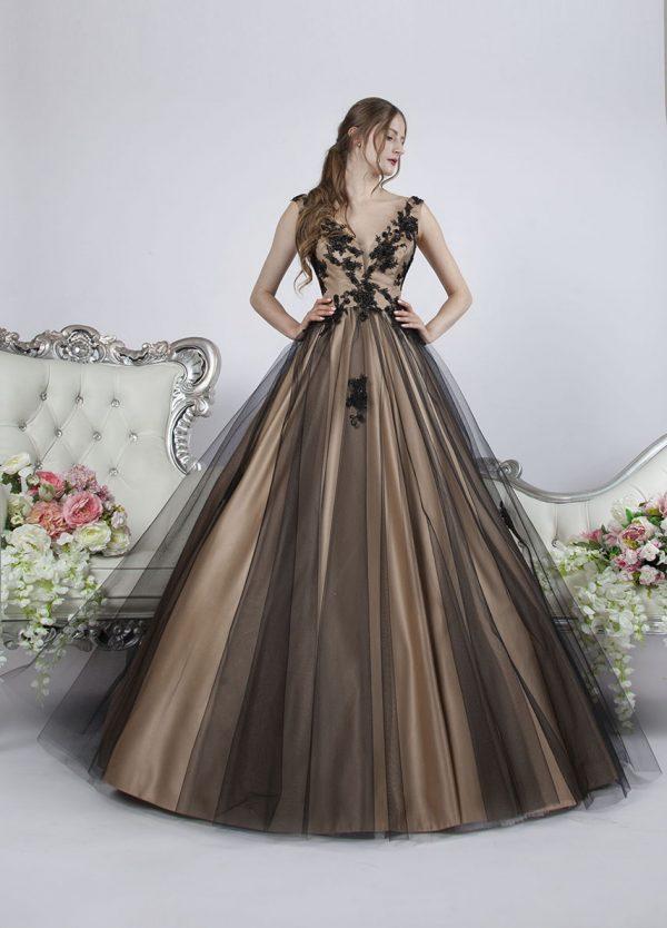 Společenské šaty Praha s černou sukní