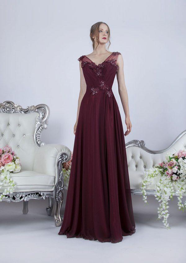 Krásné bordo maturitní šaty Praha