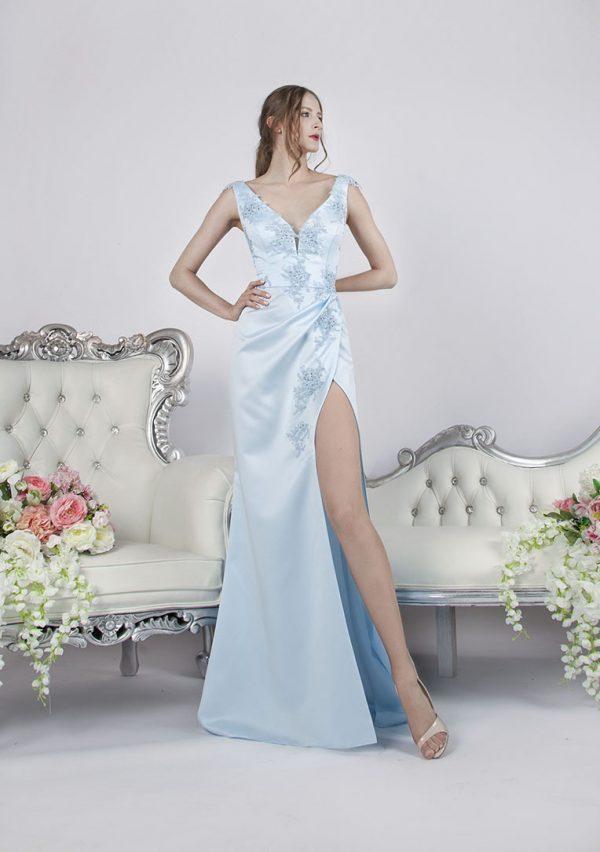 Elegantní a velmi noblesní společenské šaty sexy stylu