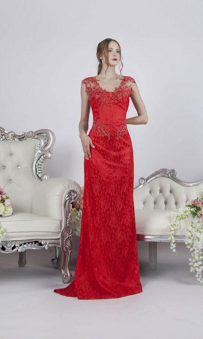 Korálové společenské šaty na svatbu nebo večírek