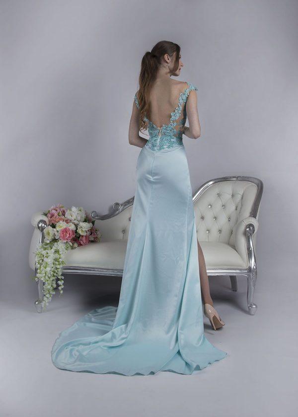 Průhledné sexz společenské šaty pastelové barvy