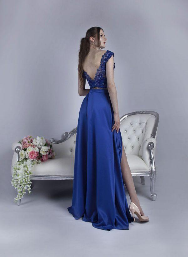 Společenské šaty se sukní a topem