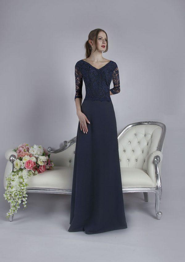 Tmavě modré dlouhé večerní šaty velká velikost