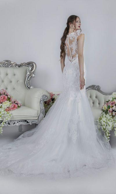 Svatební šaty střihu mořská panna bílé