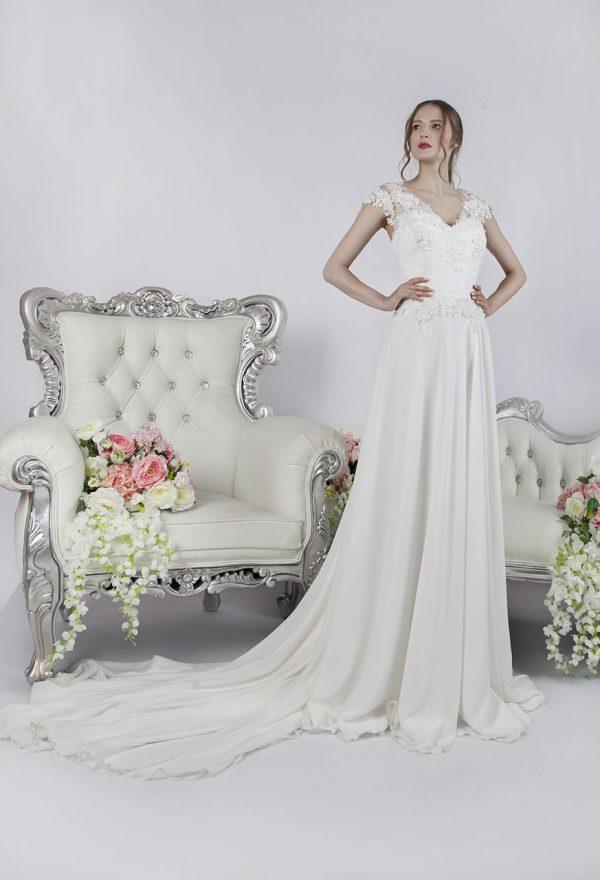 Svatební šaty velká velikost splývavé