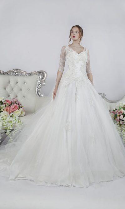 Smetanové svatební šaty xxl pro princeznu