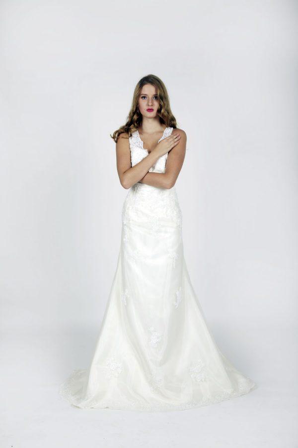 Elegantní svatební šaty vel 46 Praha