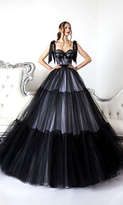 Sexy plesové šaty na maturitní ples černé barvy