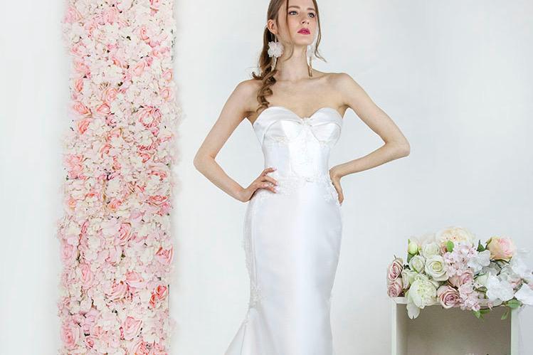 Svatební šaty střihu mořská panna z mikáda